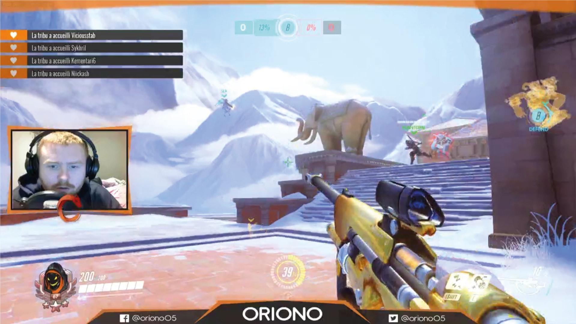 Oriono, identité visuelle joueur e-sport
