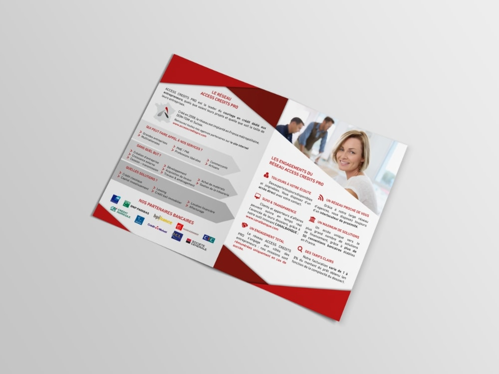 ACCESS CREDITS PRO flyer, print Tatiana Rey