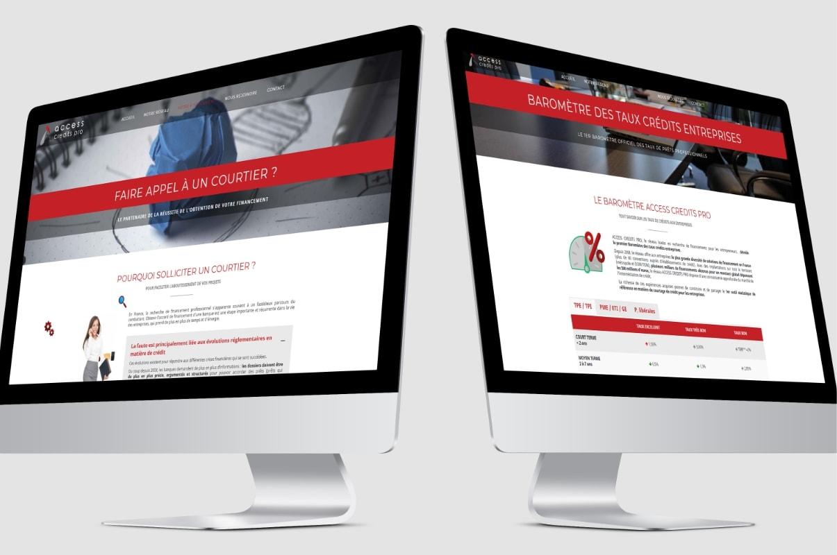 ACCESS CREDITS PRO site internet, web Tatiana Rey