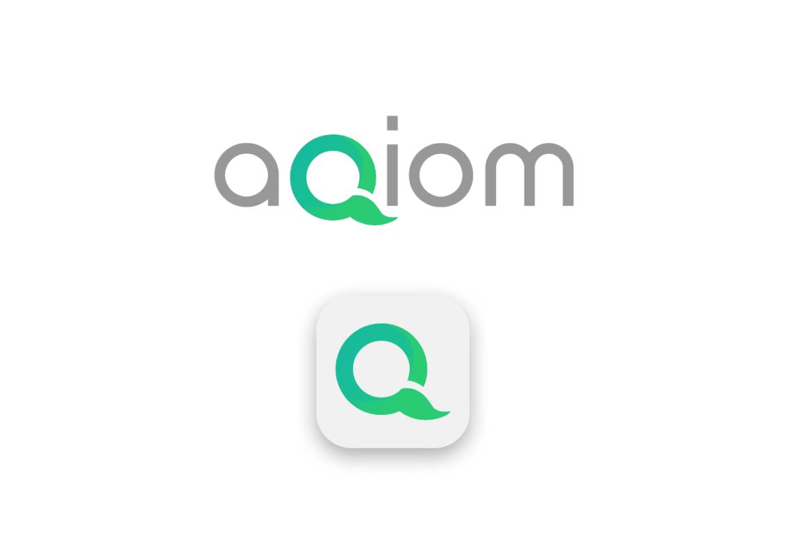 Aqiom logo proposition par Tatiana Rey