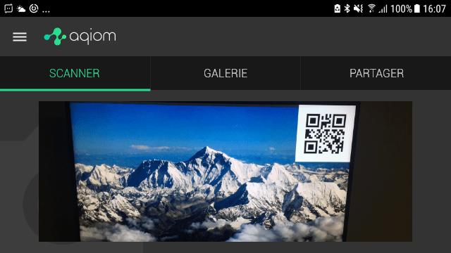 Aqiom app V2.2 déclinaison horizontale