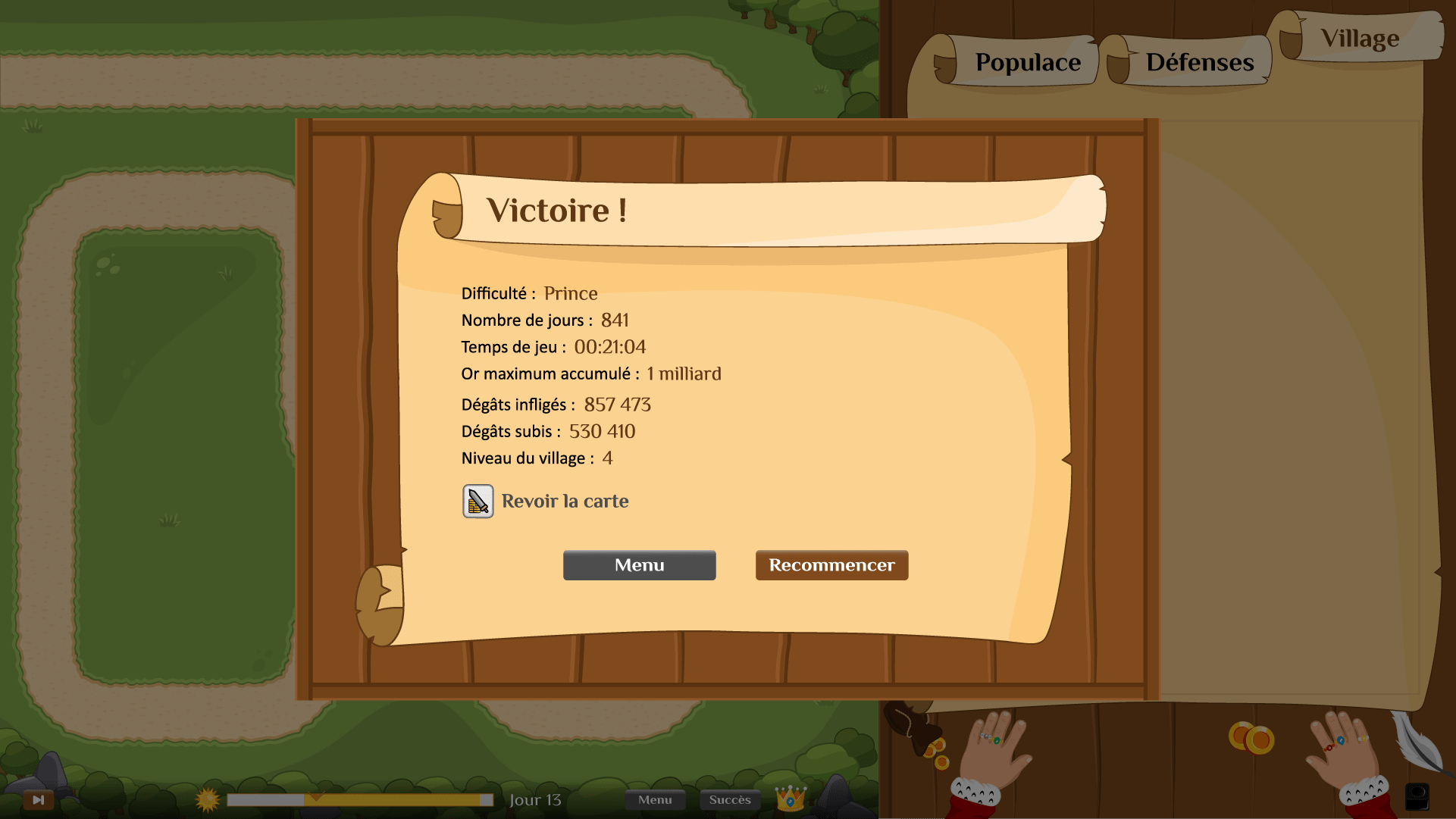 Victoire Lord Clicker